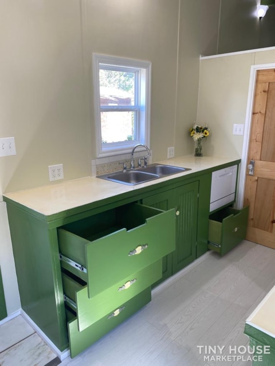 """""""The Ivy Cottage"""" 40' Tiny House on Wheels with 436 sq ft living space - Slide 18"""