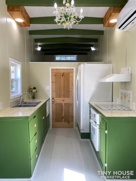 """""""The Ivy Cottage"""" 40' Tiny House on Wheels with 436 sq ft living space - Slide 23"""