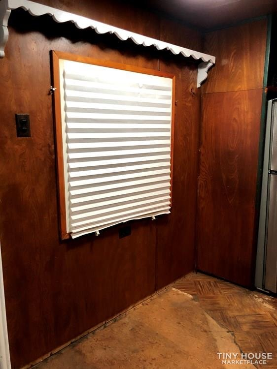 10' x 38' 1957 Mayflower one bedroom travel trailer with beautiful wood interior - Slide 9