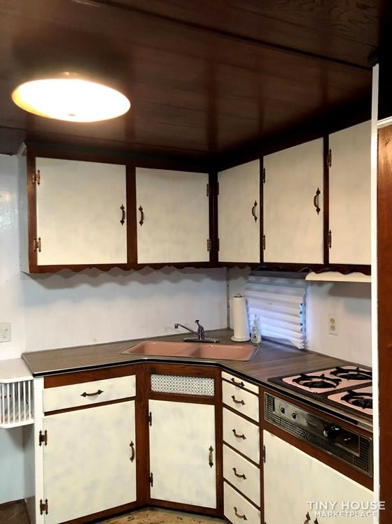 10' x 38' 1957 Mayflower one bedroom travel trailer with beautiful wood interior - Slide 10