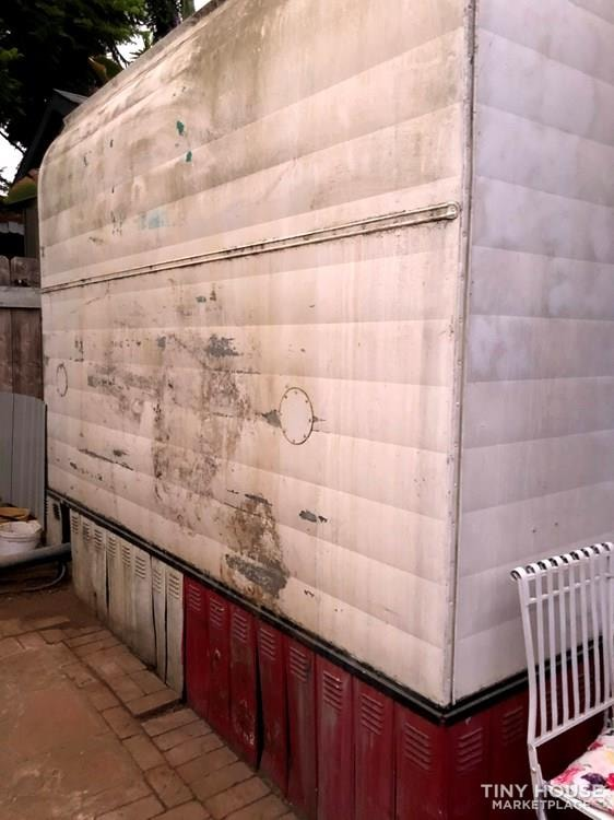 10' x 38' 1957 Mayflower one bedroom travel trailer with beautiful wood interior - Slide 3