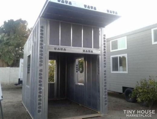 """100 sq ft Tiny House Insulated Steel 6"""" Walls Kit Home"""