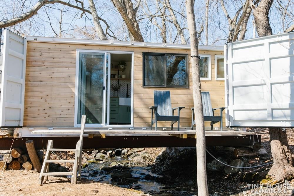 20' Side Open Shipping Container Home - Slide 1