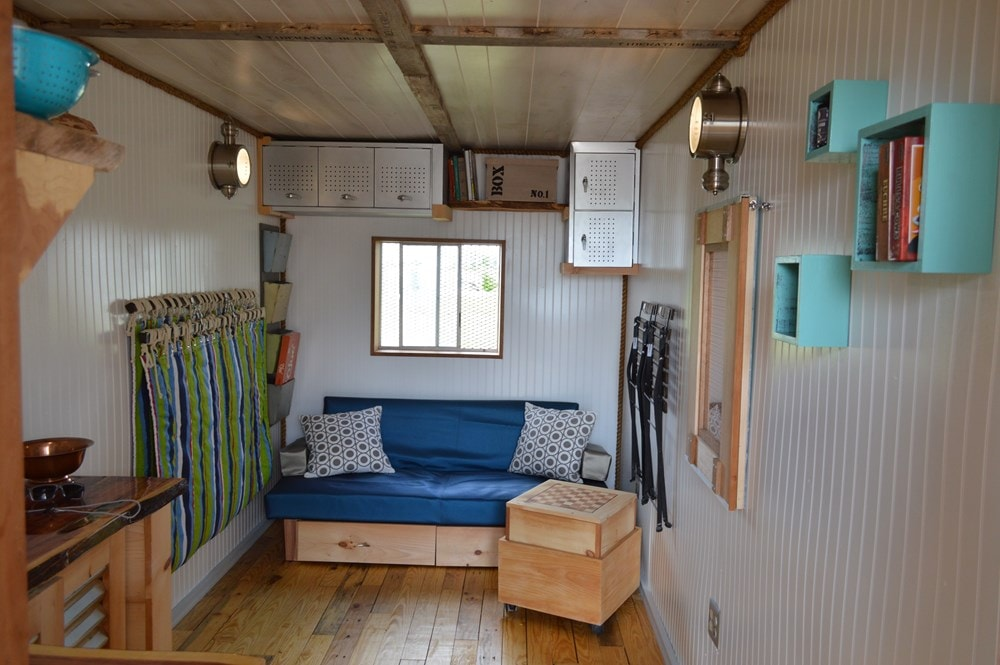 """""""Enjoy the Little Things"""" shipping container tiny home - Slide 2"""