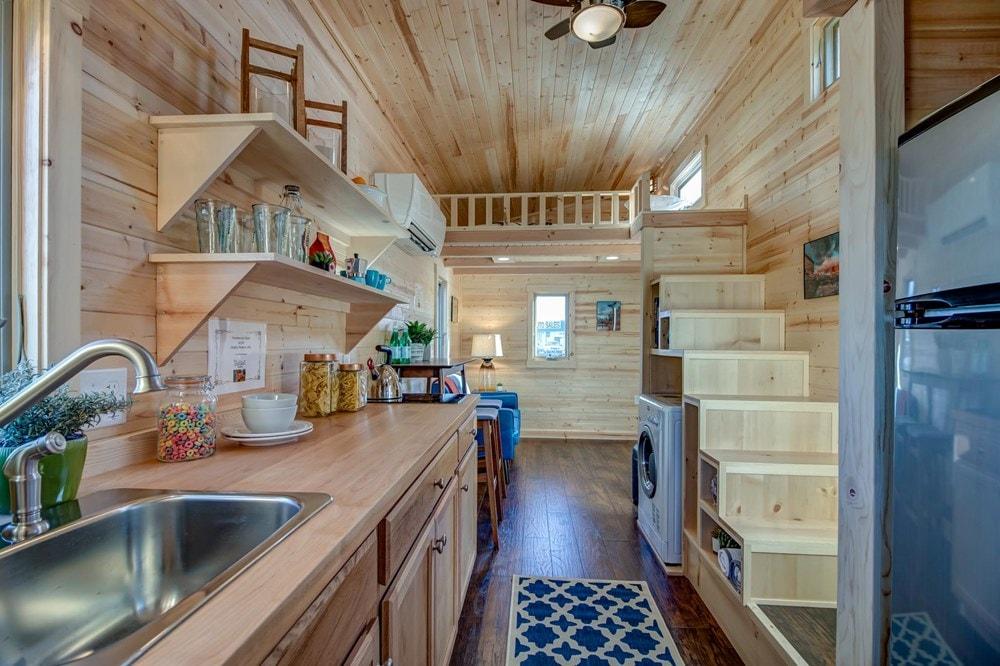 BRAND NEW 26-Foot Tumbleweed Roanoke Double Lofted Tiny House - Slide 5