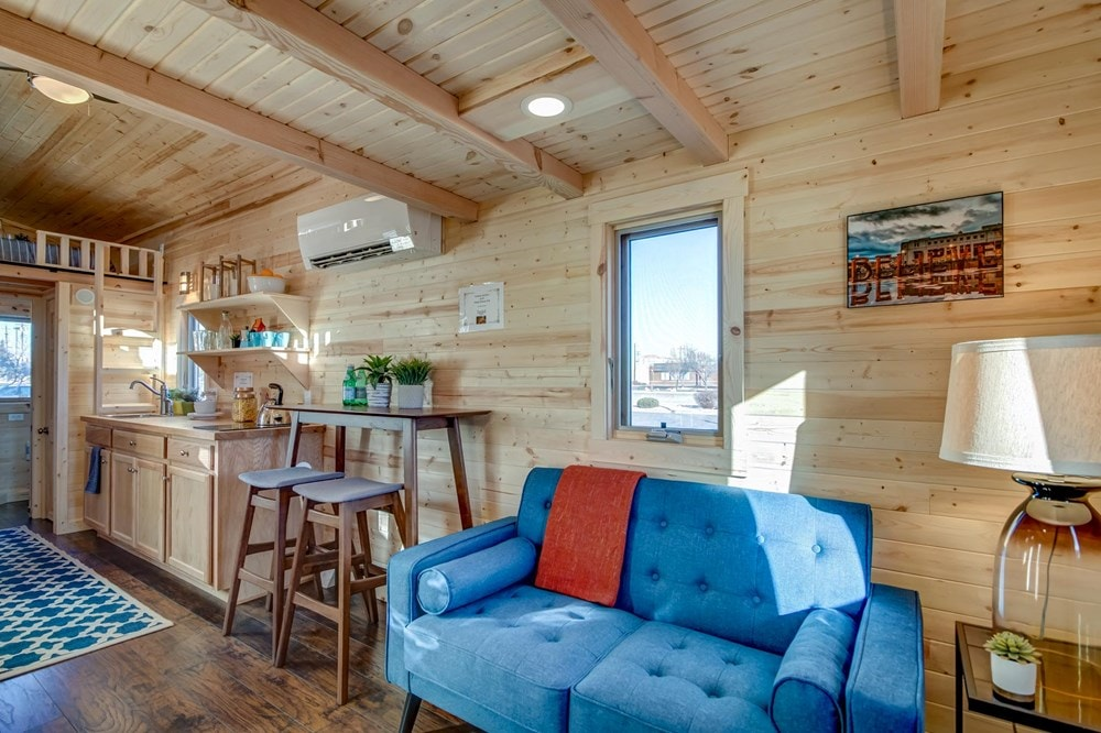 BRAND NEW 26-Foot Tumbleweed Roanoke Double Lofted Tiny House - Slide 4