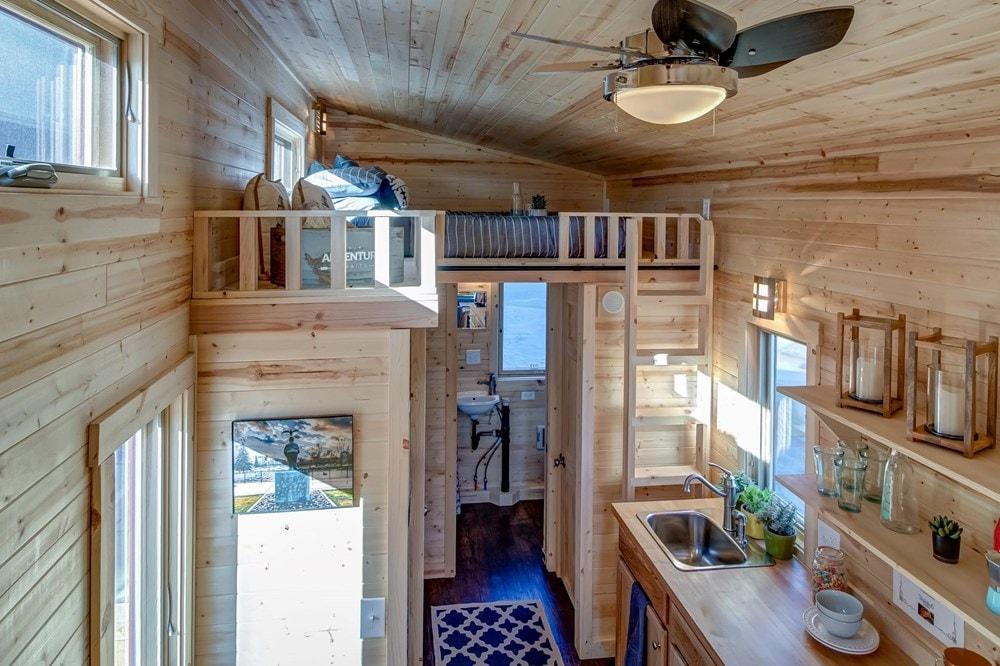 BRAND NEW 26-Foot Tumbleweed Roanoke Double Lofted Tiny House - Slide 9