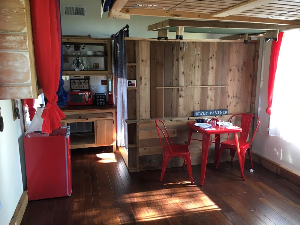 Tiny House 12x16 w reclaimed Wood & modern SIP Constructed w Clever Innovations - Slide 7