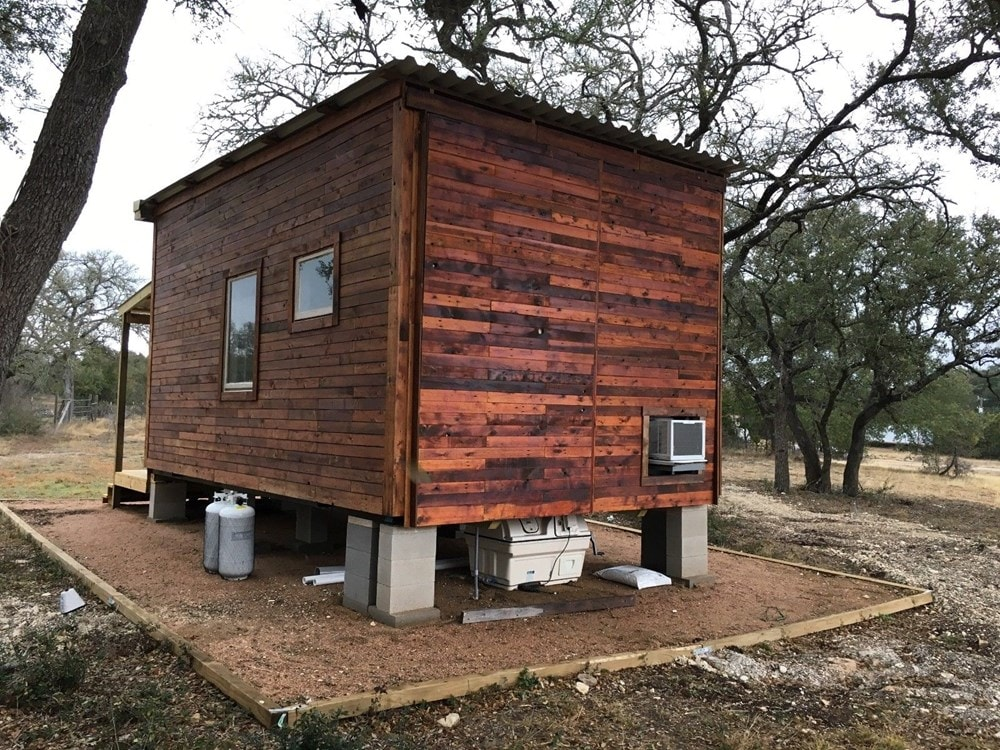 Tiny House 12x16 w reclaimed Wood & modern SIP Constructed w Clever Innovations - Slide 2