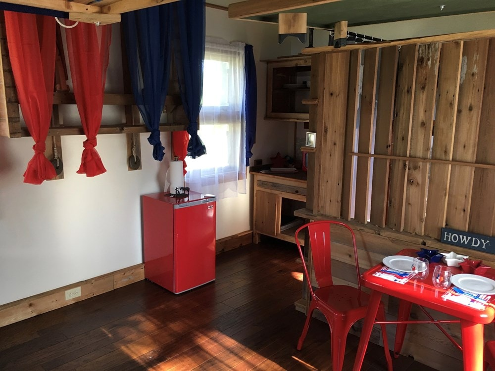 Tiny House 12x16 w reclaimed Wood & modern SIP Constructed w Clever Innovations - Slide 9