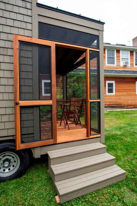 25 foot Tiny House on wheels with screened in porch - Slide 3