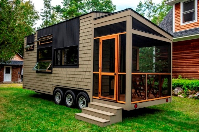 25 foot Tiny House on wheels with screened in porch - Slide 1