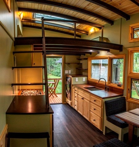 25 foot Tiny House on wheels with screened in porch - Slide 4