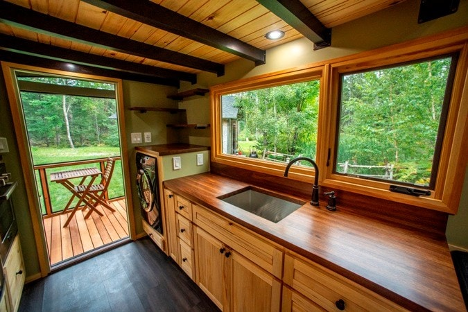 25 foot Tiny House on wheels with screened in porch - Slide 7