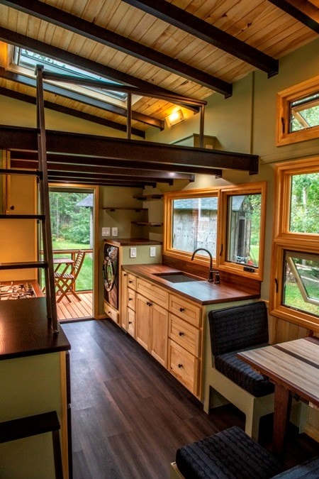25 foot Tiny House on wheels with screened in porch - Slide 10