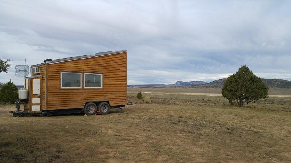 Off-grid ready, tech-friendly 16' custom tiny home - Slide 1