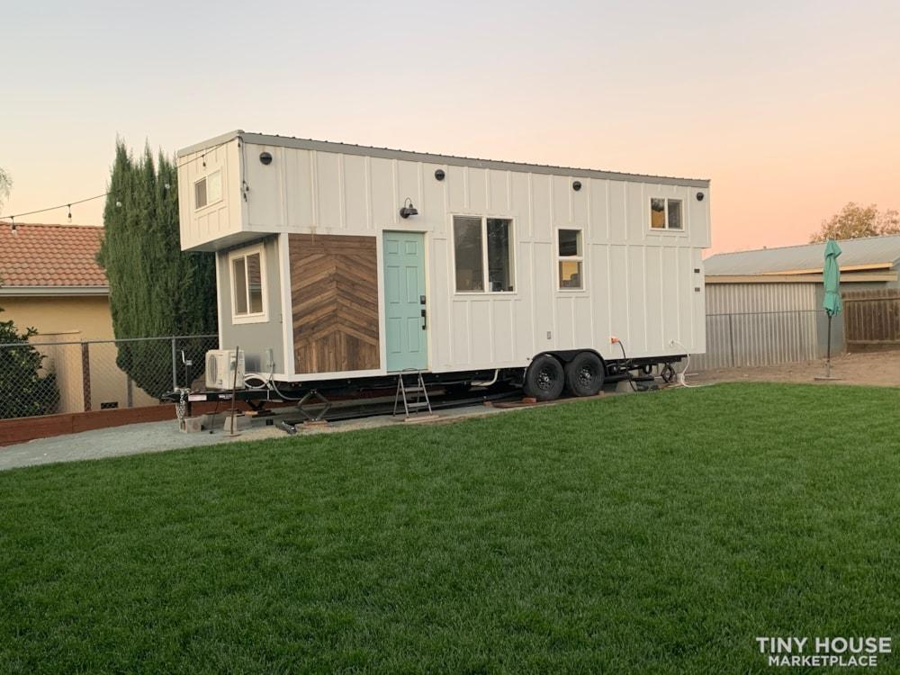 26ft Modern Farm Tiny House on Wheels - Slide 1