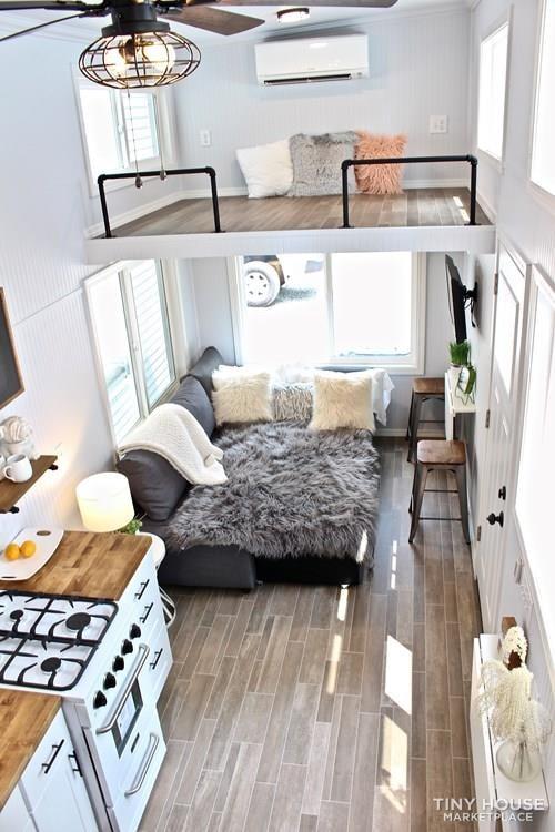 30' Humble Shack Tiny House on Wheels - Slide 60