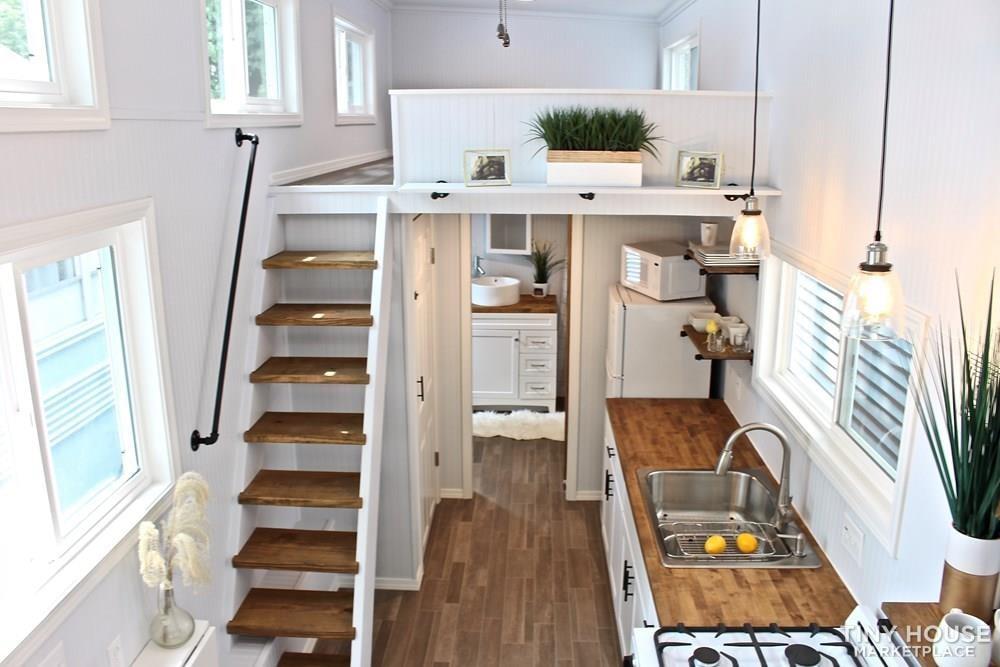 30' Humble Shack Tiny House on Wheels - Slide 68