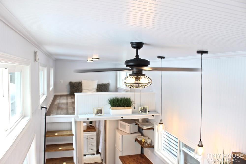 30' Humble Shack Tiny House on Wheels - Slide 70