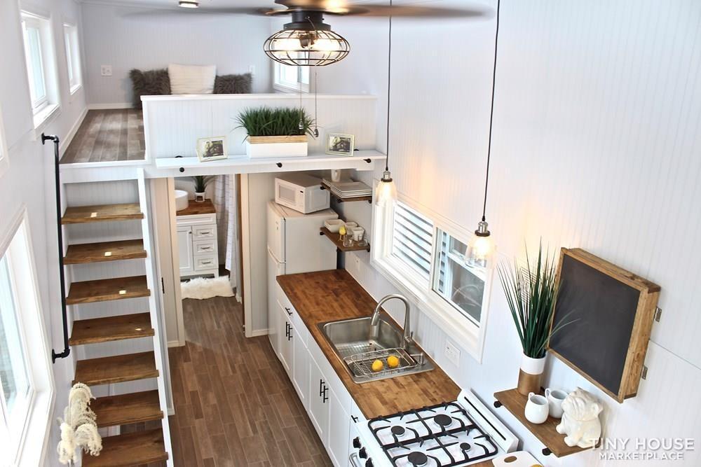 30' Humble Shack Tiny House on Wheels - Slide 71