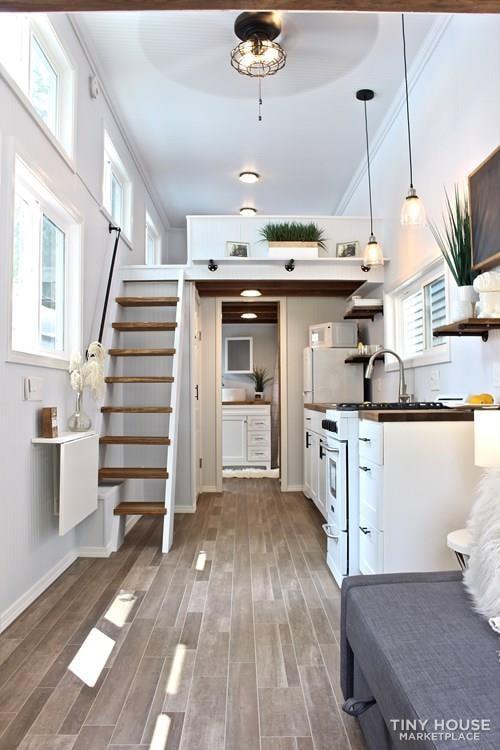 30' Humble Shack Tiny House on Wheels - Slide 74