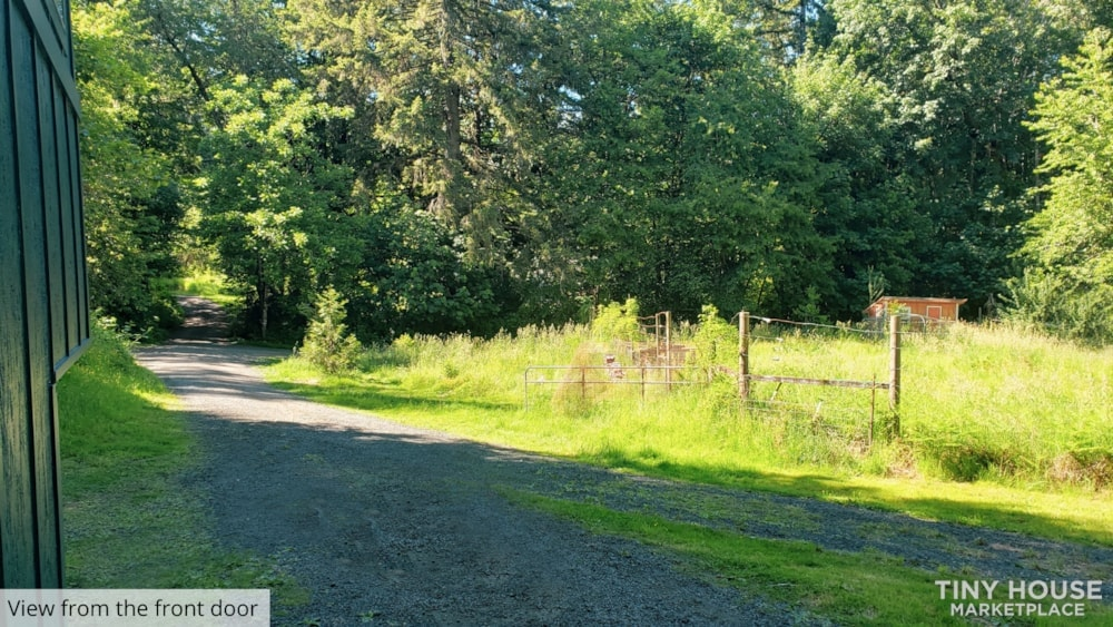 42' Tiny House on Wheels, Optional Parking Spot on 15 Acres in Olympia, WA  - Slide 3
