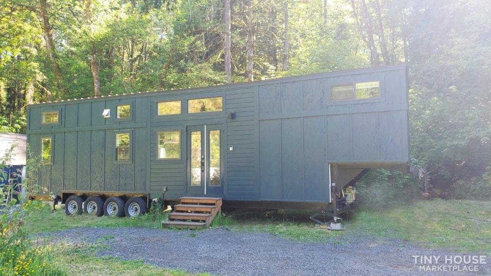 42' Tiny House on Wheels, Optional Parking Spot on 15 Acres in Olympia, WA  - Slide 1