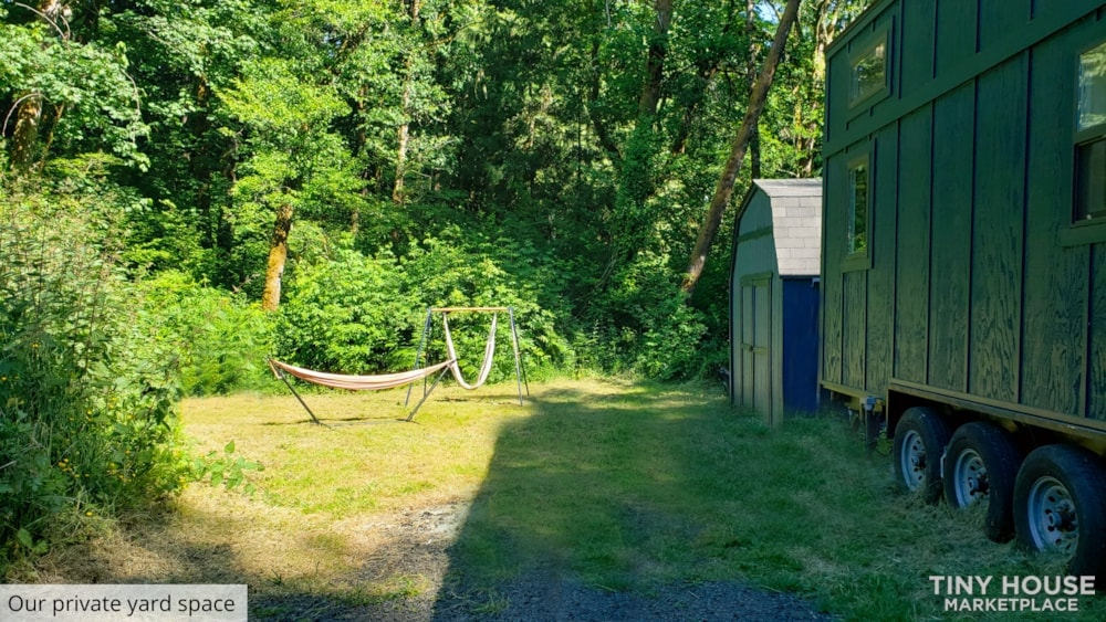 42' Tiny House on Wheels, Optional Parking Spot on 15 Acres in Olympia, WA  - Slide 4