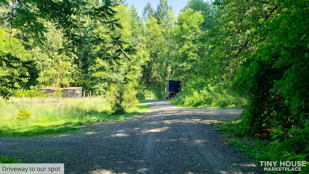 42' Tiny House on Wheels, Optional Parking Spot on 15 Acres in Olympia, WA  - Slide 5