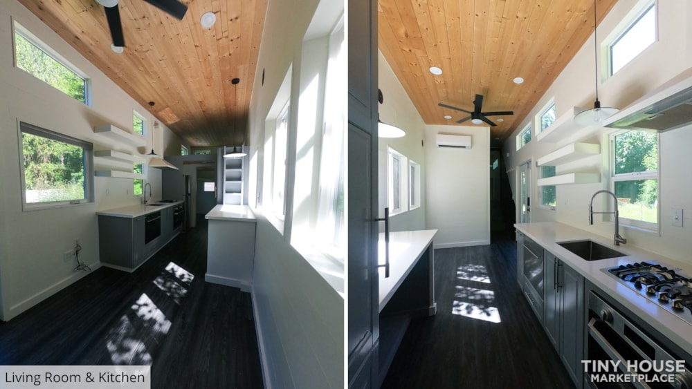 42' Tiny House on Wheels, Optional Parking Spot on 15 Acres in Olympia, WA  - Slide 11