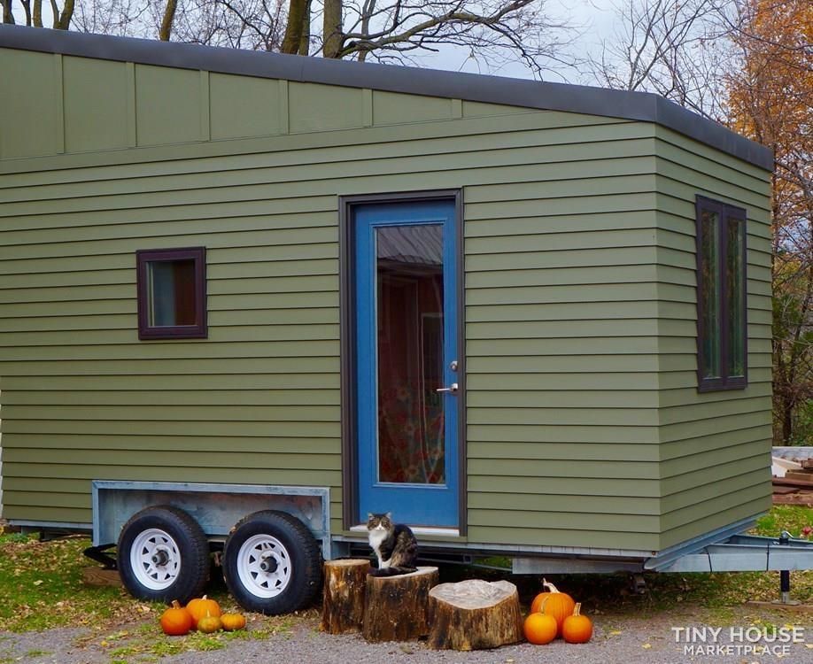 8x16 Tiny House on Professionally-built Galvanized trailer - Slide 1