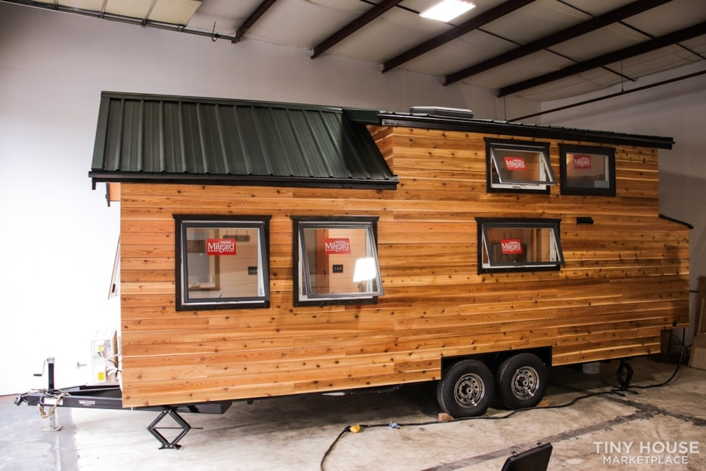 SOLD!! BRAND NEW 24' Tiny House 'The Aspen' by Wilding Woodworks Tiny Homes - Slide 58