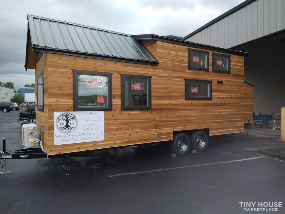 SOLD!! BRAND NEW 24' Tiny House 'The Aspen' by Wilding Woodworks Tiny Homes - Slide 2