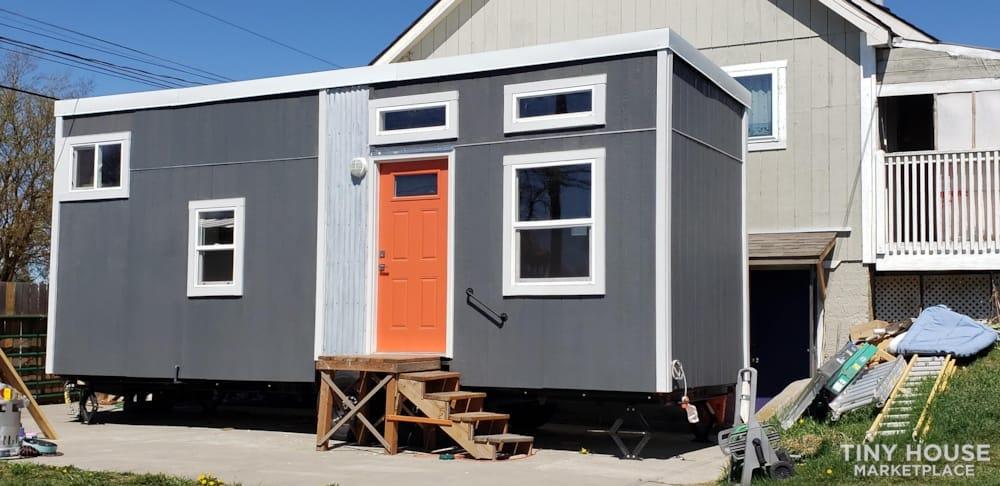 Custom 26 foot tiny house on wheels - Slide 1