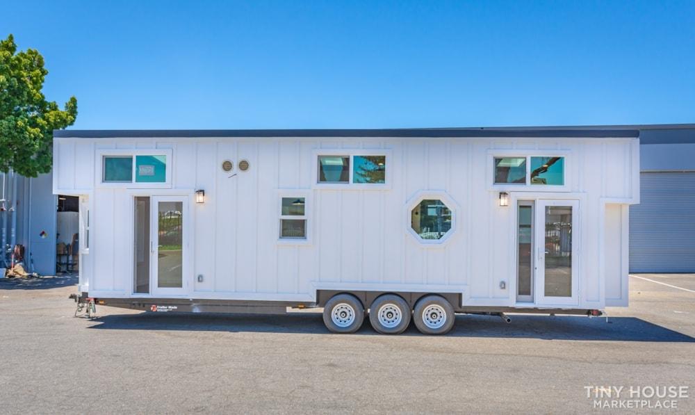Custom 3 Bedroom 8.5' x 32' Tiny Home On Wheels - Slide 3