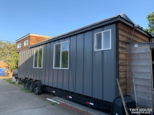 Light, airy, almost finished tiny house on wheels