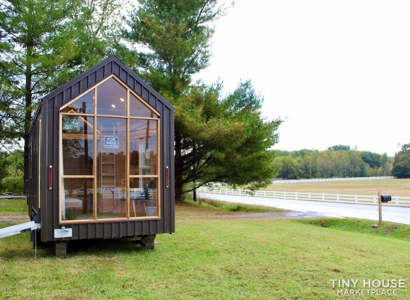 This Lightweight Custom Tiny Home is Beautiful, Spacious and Easy to Pull.  - Slide 1