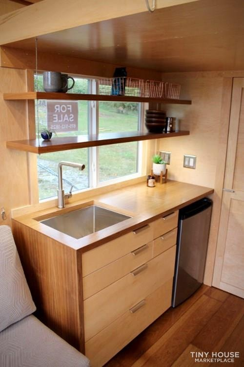 This Lightweight Custom Tiny Home is Beautiful, Spacious and Easy to Pull.  - Slide 4