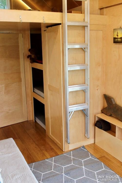 This Lightweight Custom Tiny Home is Beautiful, Spacious and Easy to Pull.  - Slide 20