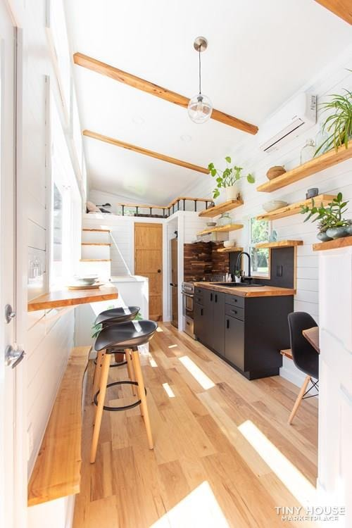 Natural Modern Luxury 26ft Tiny House on Trailer by Made Relative - Slide 7