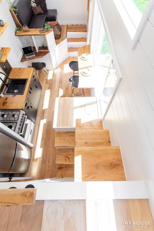 Natural Modern Luxury 26ft Tiny House on Trailer by Made Relative - Slide 22