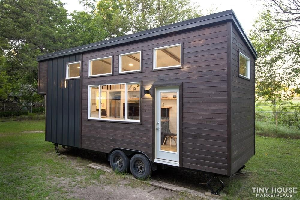 Natural Modern Luxury 26ft Tiny House on Trailer by Made Relative - Slide 2