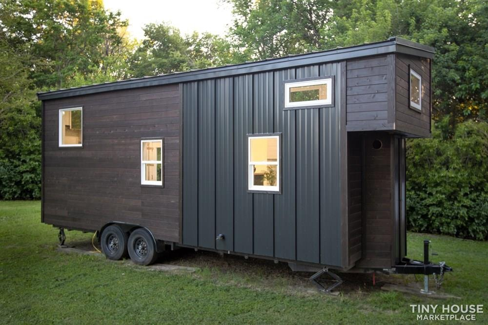 Natural Modern Luxury 26ft Tiny House on Trailer by Made Relative - Slide 4