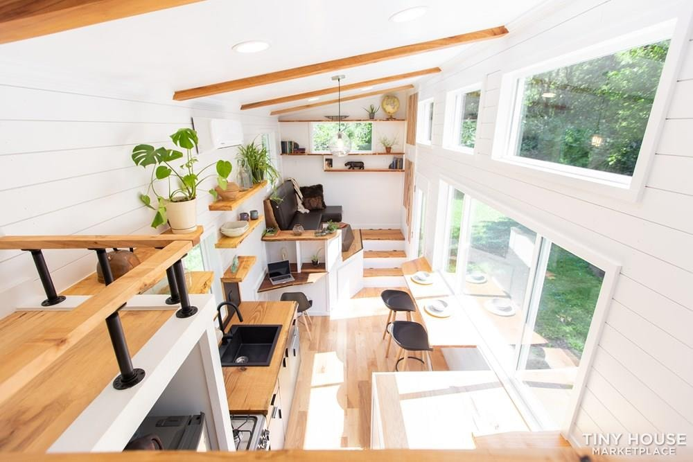 Natural Modern Luxury 26ft Tiny House on Trailer by Made Relative - Slide 24