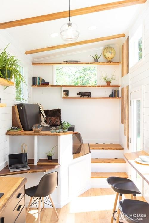 Natural Modern Luxury 26ft Tiny House on Trailer by Made Relative - Slide 25