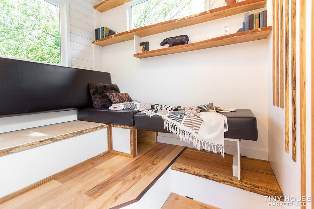 Natural Modern Luxury 26ft Tiny House on Trailer by Made Relative - Slide 28