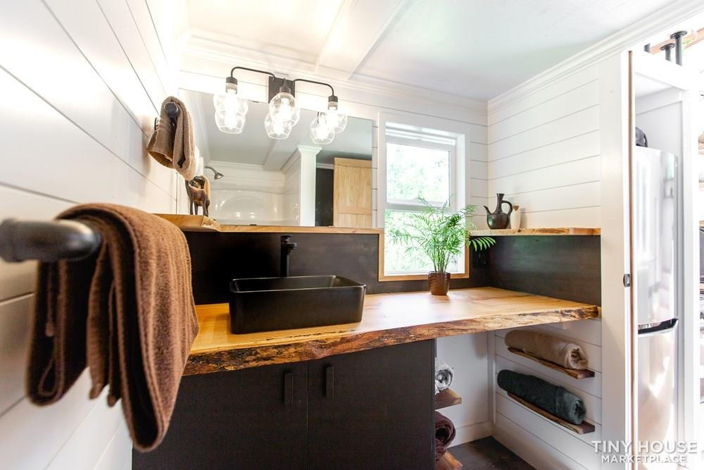 Natural Modern Luxury 26ft Tiny House on Trailer by Made Relative - Slide 36