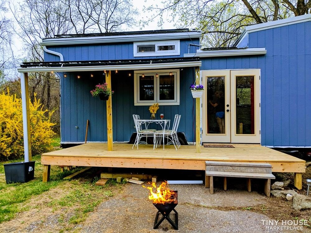 Off-Grid 32' Tiny House On Wheels For Sale - Slide 1