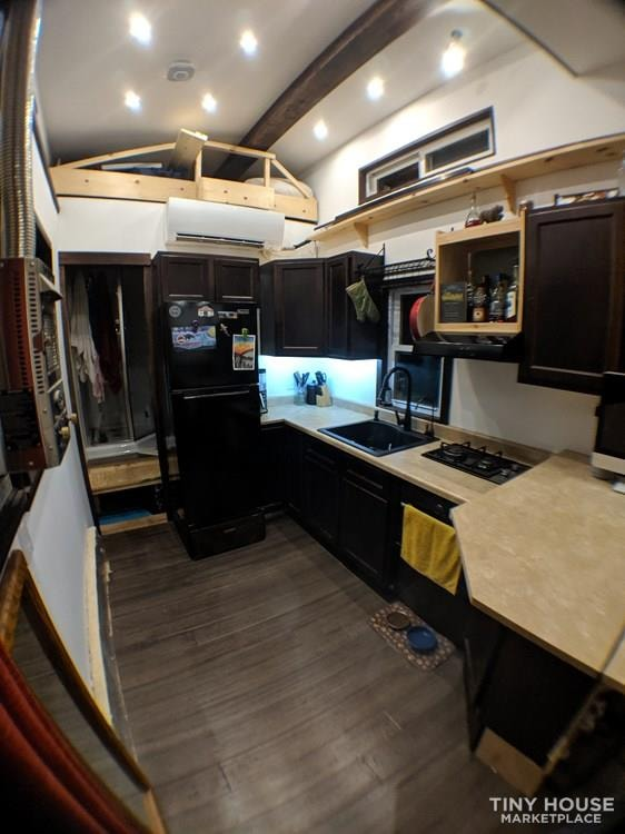 Off-Grid 32' Tiny House On Wheels For Sale - Slide 9